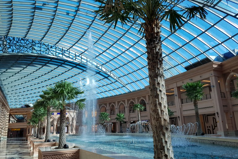 The Miqab Mall Fountains