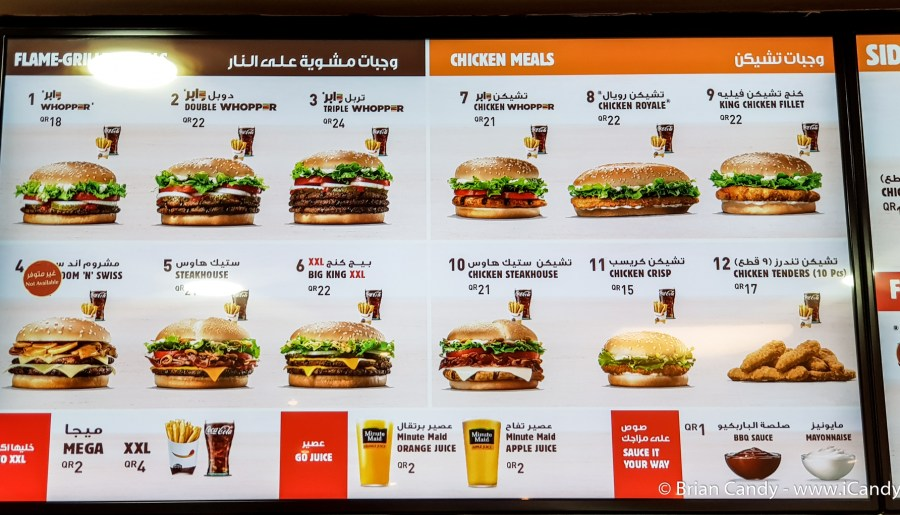 Price of Fast Food in Qatar
