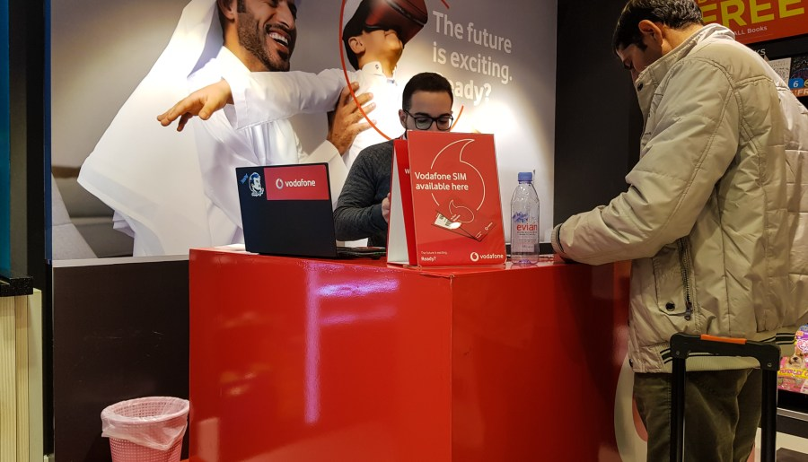 Buying a SIM for your Mobile Phone at Doha Airport