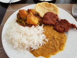 Indian breakfast plate at Sapphire Plaza Hotel