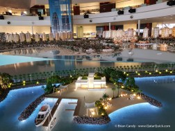 Model of the Pearl Qatar. Located within the Pearl Visitor Centre.