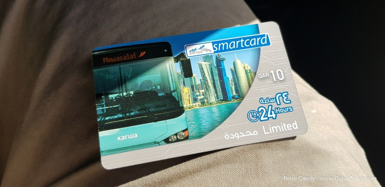 The Karwa QR 10 Smartcard can be bought on the bus.