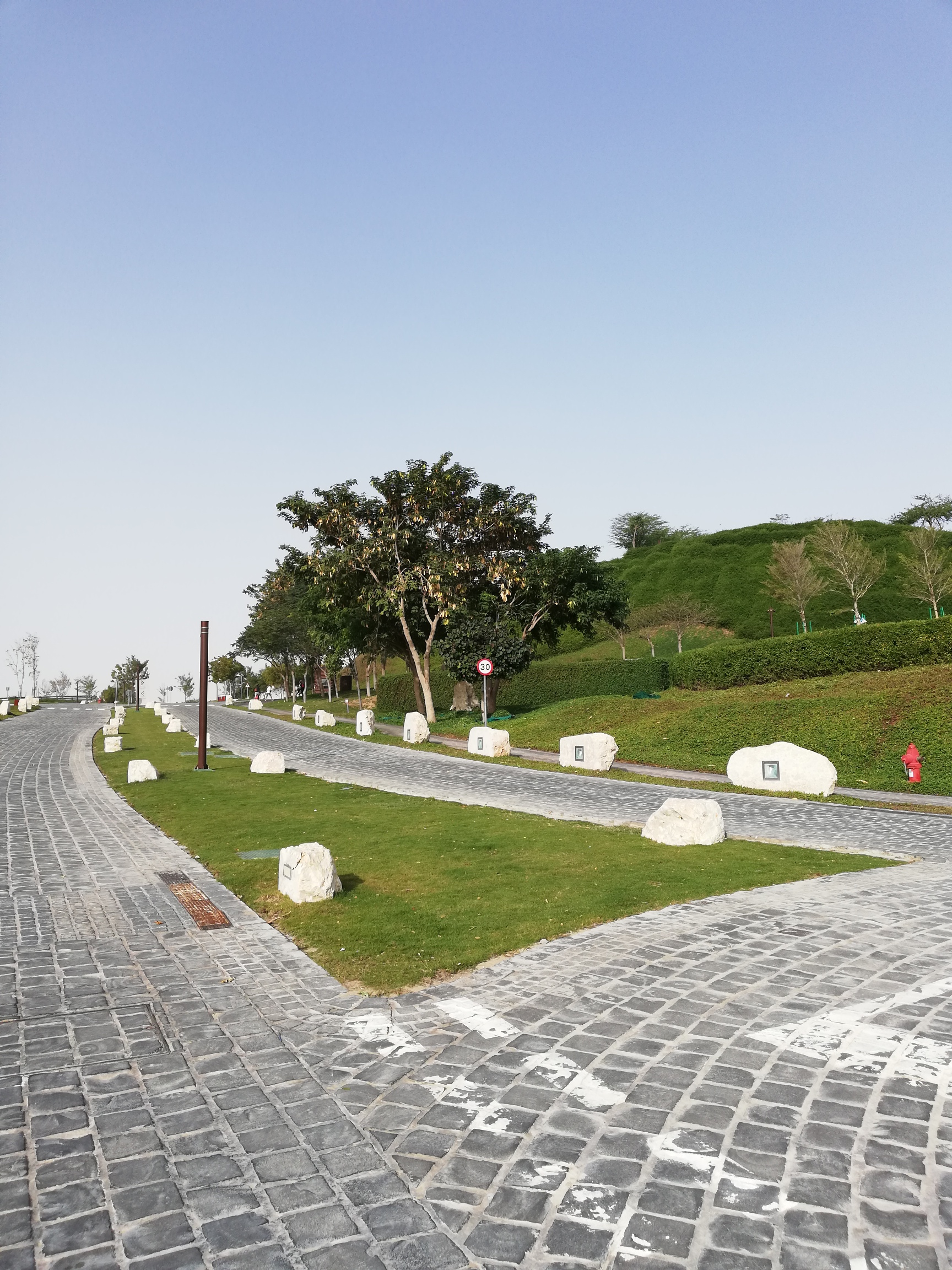 Road leading upto Katara exercise trail