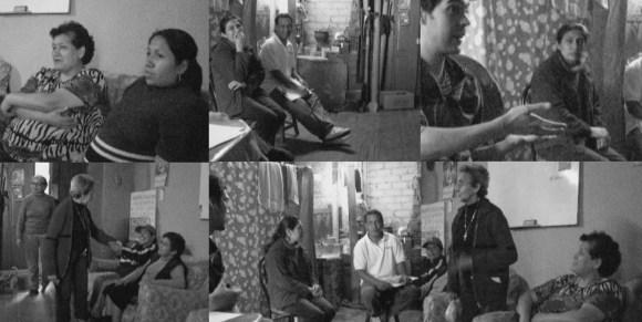 Imágenes de las entrevistas realizadas con los habitantes del predio