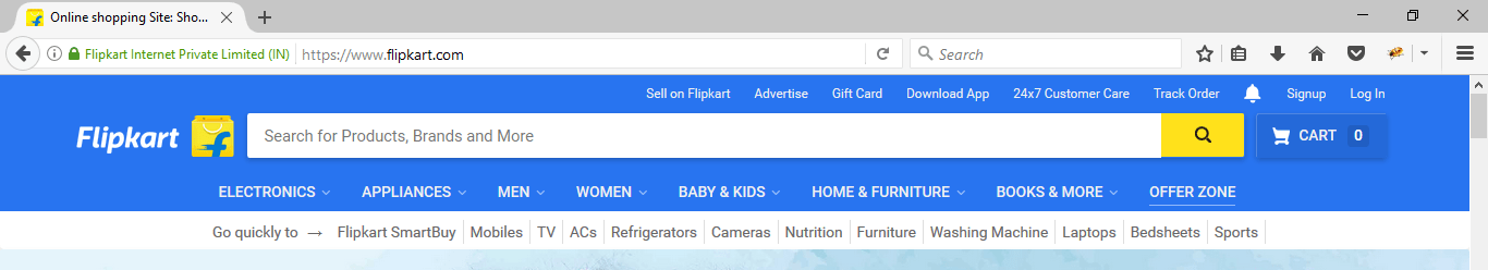 flipkart_home_page