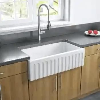 33 reversible fireclay farmhouse sink