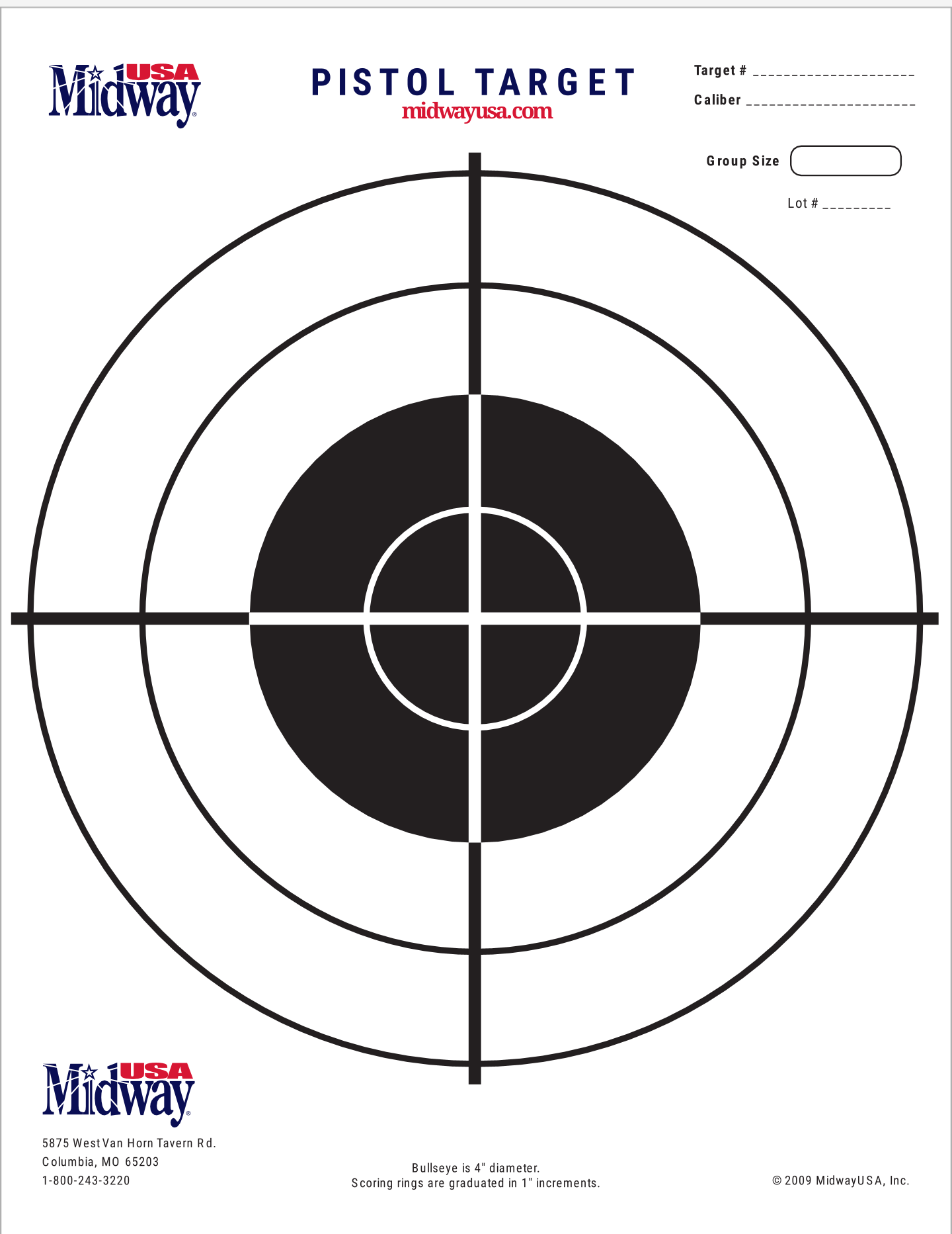 This is an image of Intrepid 22 Targets Printable