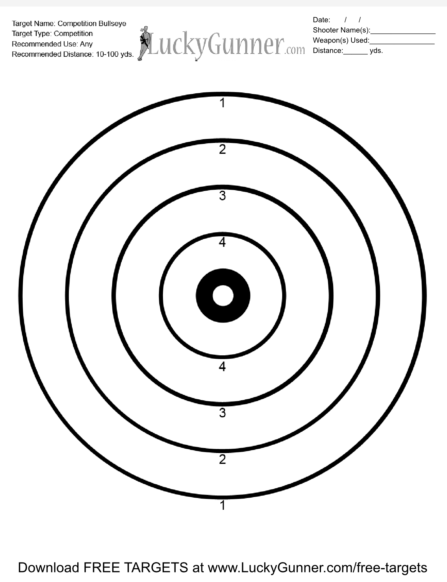 This is a photo of Universal 22 Targets Printable