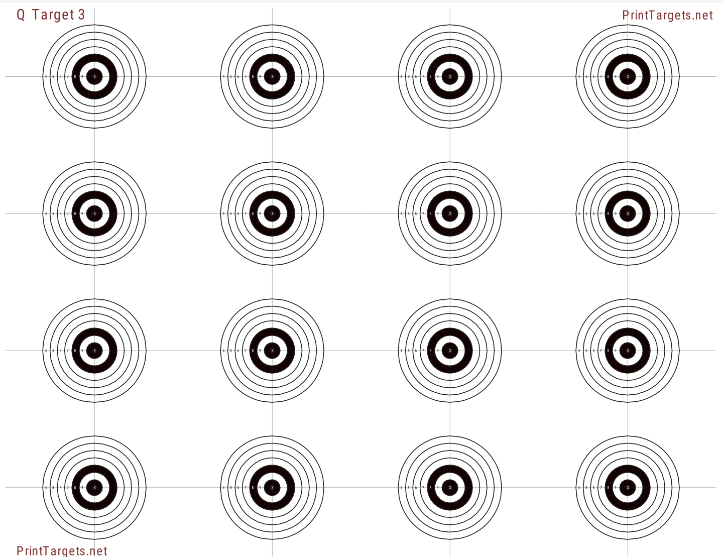 This is a photo of Selective Rimfire Targets Printable