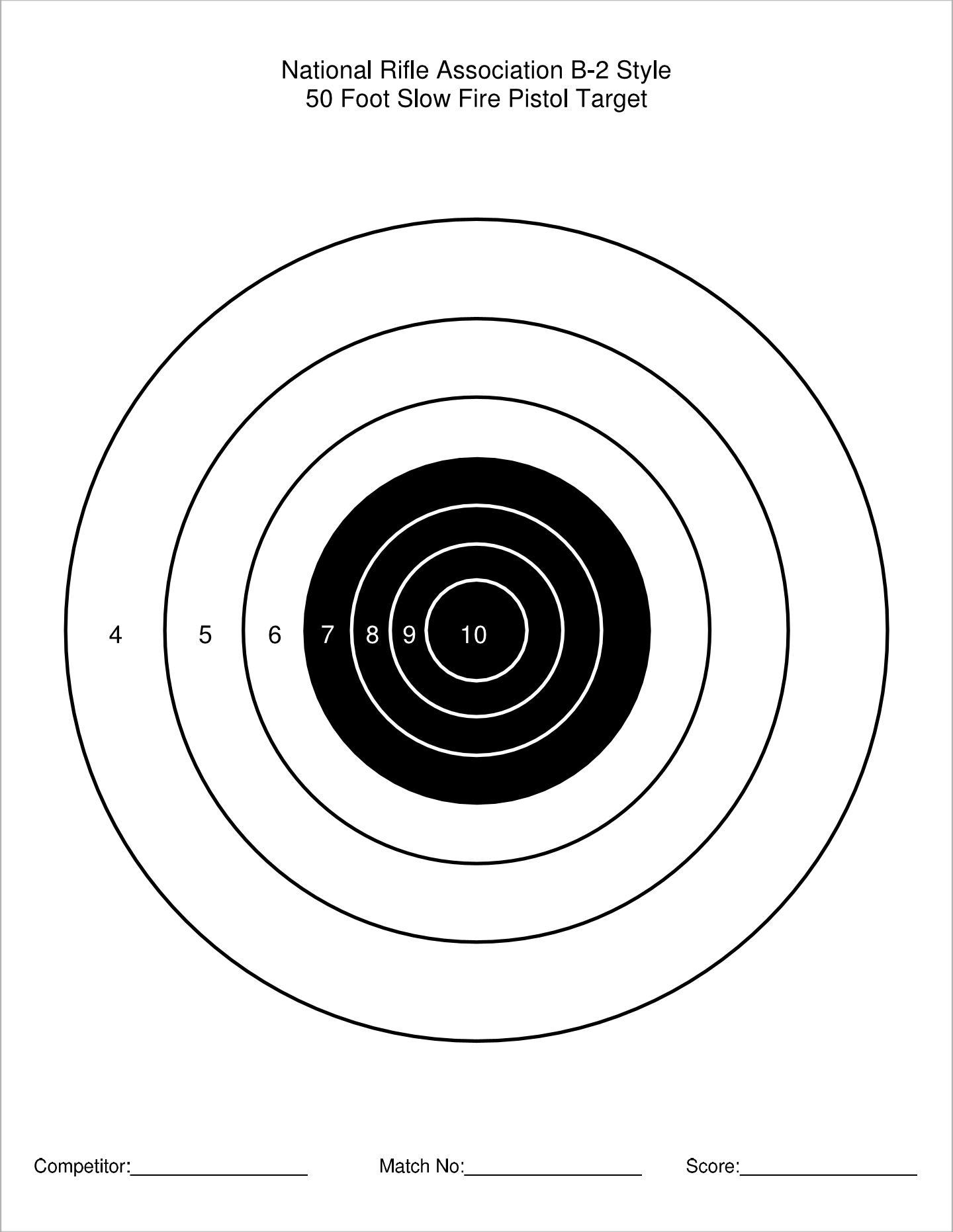 graphic regarding Printable Nra Pistol Targets named Printable Focus Variety QBall45