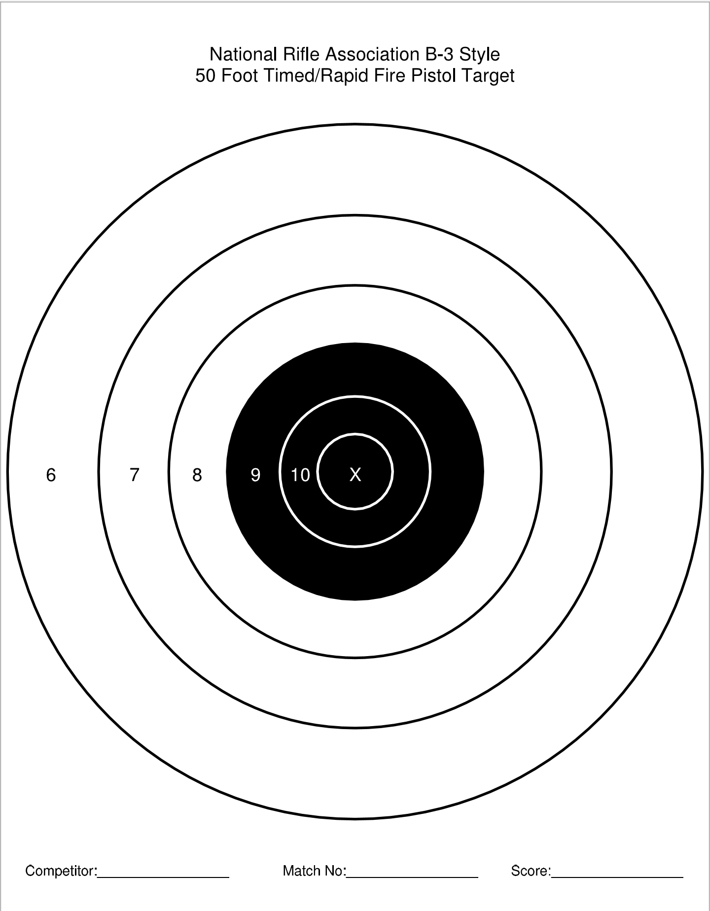 photo about Printable Nra Pistol Targets identify Printable Aim Selection QBall45