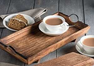 Mango Wood Serving Tray with Handles sustainable