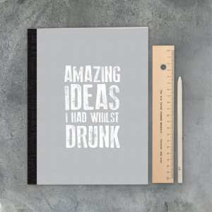 Large stitched note book-Amazing ideas
