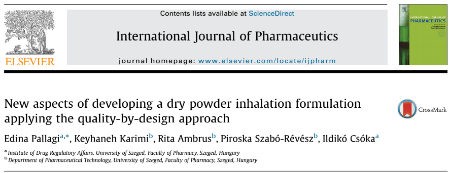 QbD for Dry Powder Inhalation Formulation (Combination Product)