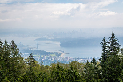 Vancouver from Cypress Provincial Park, British Columbia