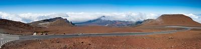 View from Pu'u 'ula'ula summit at Haleakala National Park