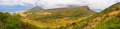 Koko Head & Ko'olau Mountain Range from Makapu'u Lighthouse Trail