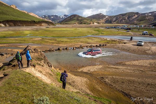 Landmannalaugar river crossing, Icelandic Highlands