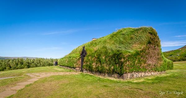 Thjodveldisbaer, reconstructed Viking farm, Southwest Iceland