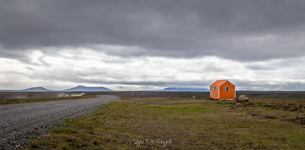 The F35 Kjölur route through the Icelandic Highlands.
