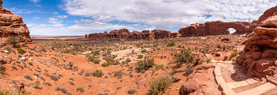 North Window & Parade of Elephants from Turret Arch, Arches National Park