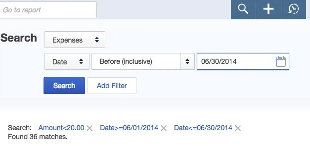 Using the Advanced Search Tool in QuickBooks Online