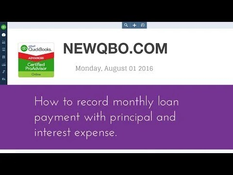 Video: how to record monthly loan payment with principal and interest expense