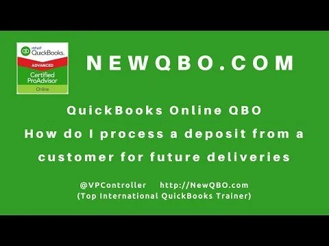 Video: how to process DEPOSIT from CUSTOMER for future job delivery RETAINER FEE