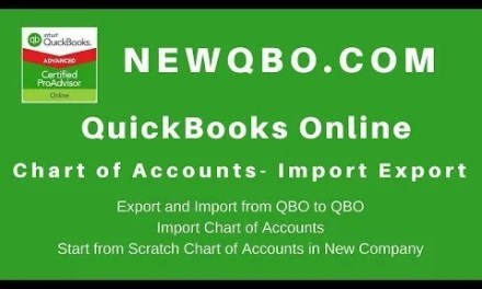 QuickBooks Online  – Import Export Chart of Accounts QBO