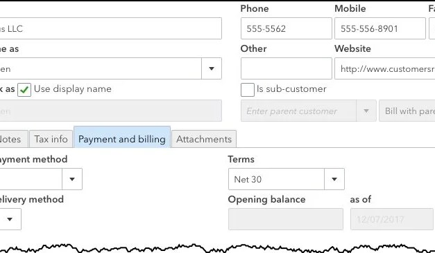Using QuickBooks Online's Customer Records