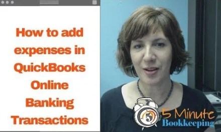Video: How to add expenses in QuickBooks Online Banking Transactions (Bank Feeds)