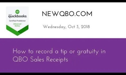 How to record a tip or gratuity on Sales Receipts in QuickBooks Online