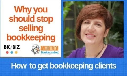 Why you should stop selling bookkeeping