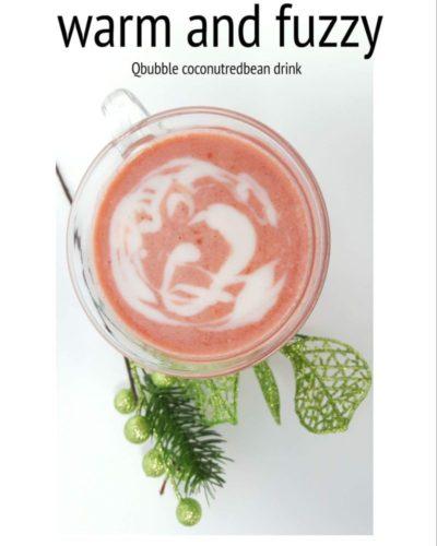 No caffeine winter hot drink: Coconut Redbean