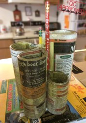 Phone book upcycled into a pencil holder / QC APPROVED.