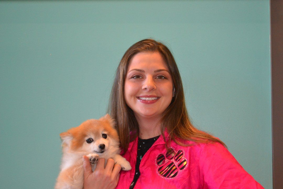 Meet Sarah, she is the owner of QC Canine Design along with her companion Miss. McFullums