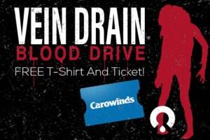 SCarowinds Vein Drain Blood Drive - Q City Metro