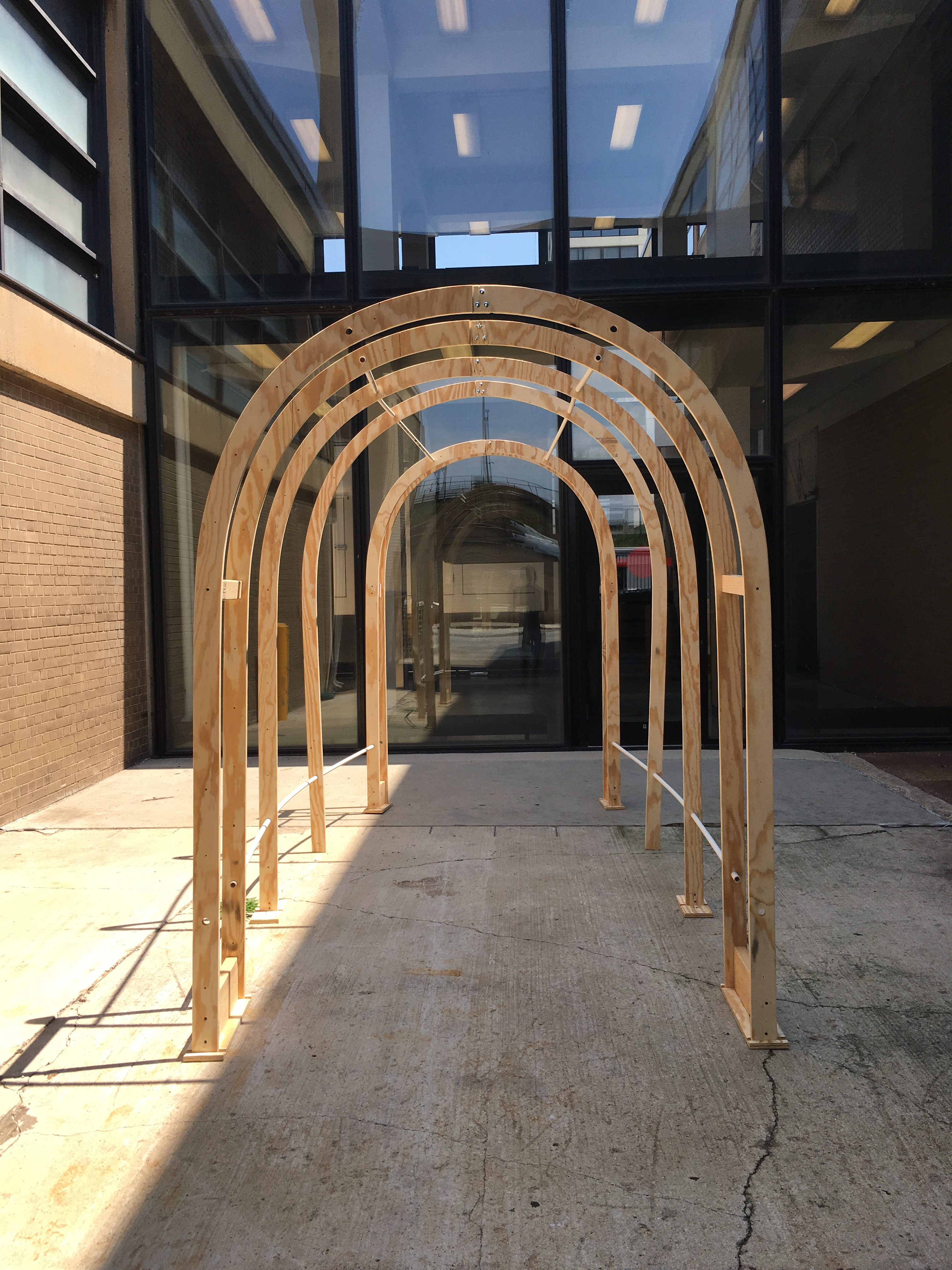 Front view of the Tunnel frame.