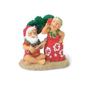 Santa and Mrs. Claus playing ukulele