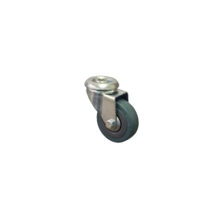 Grey Rubber Tyre Bolt Hole Budget Castor Range