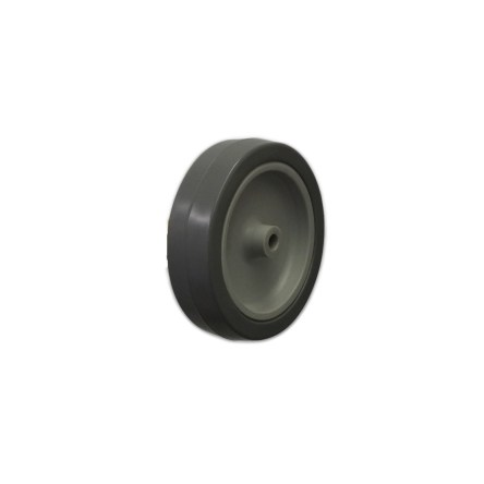 100MM GREY THERMOPLASTIC RUBBER TYRE WHEEL