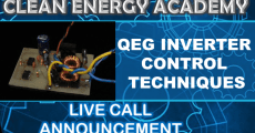 Live Call QEG Inverter Control Techniques May 26 2019