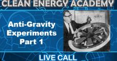 Anti-Gravity Experiments Part 1, Live Call Sunday April 18, 2021-1PM EST