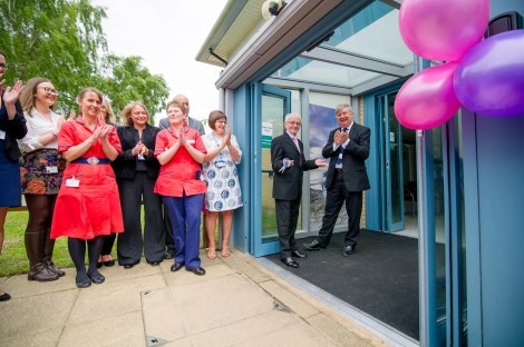 Charles Hunniford opens the Breast Care Unit.