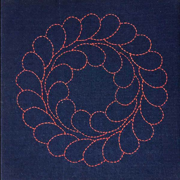 Red Feather Wreath © Susan Ball Faeder