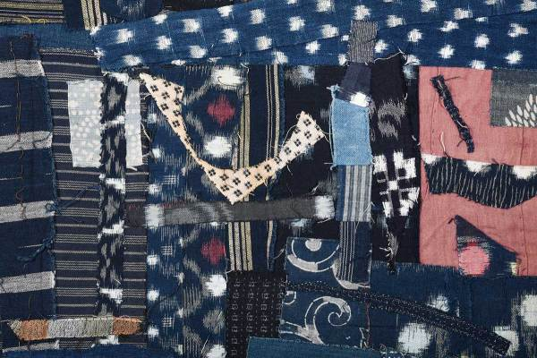 Detail of Arigato: Boro Boro Byobu 5 - Skirt © Susan Ball Faeder