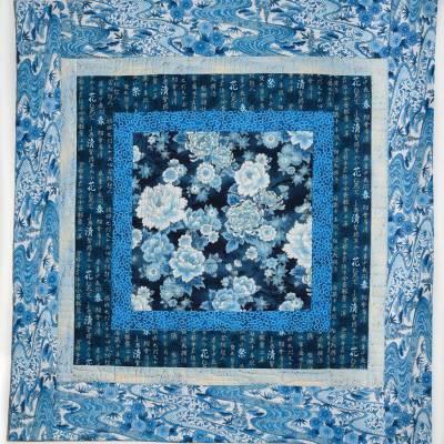 Blue and White Showcase Quilt © Susan Ball Faeder