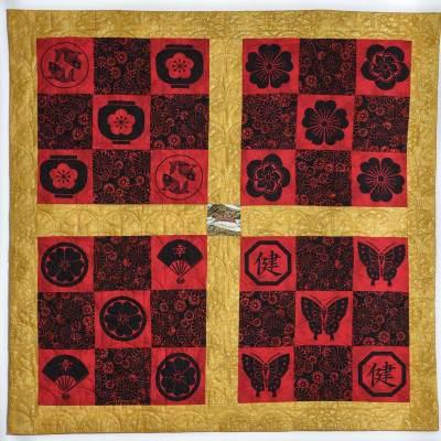 Red & Black Nine-Patch Quilt © Susan Ball Faeder