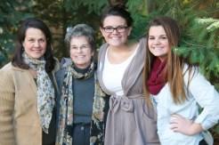 Angie, Diane, grandaughters Mackenzie, Allie
