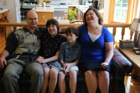 Gran, grandsons Jonathan, Christopher & Gina
